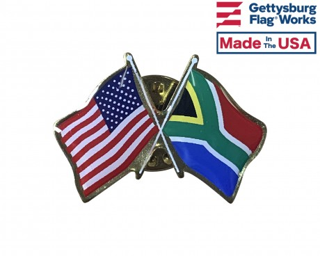 South Africa Lapel Pin (with US Flag)
