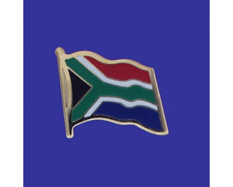 South Africa Lapel Pin (Single Waving Flag)