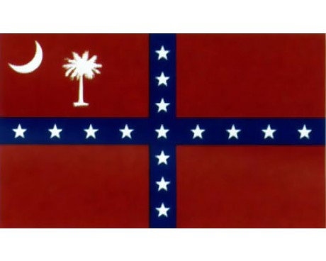 South Carolina Confederacy Flag 1861 - 3x5'