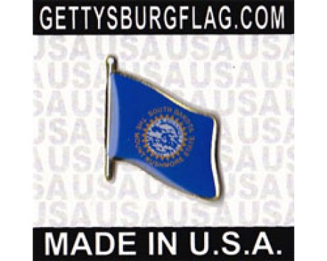South Dakota State Flag Lapel Pin (Single Waving Flag)