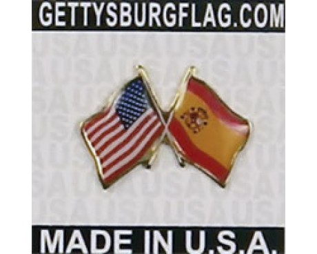 Spain Lapel Pin (with US Flag)