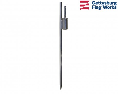 Teardrop Flagpole Spike Ground Mount