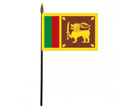 Sri Lanka Stick Flag - 4x6""