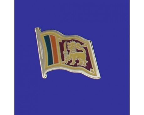 Sri Lanka Lapel Pin (Single Waving Flag)