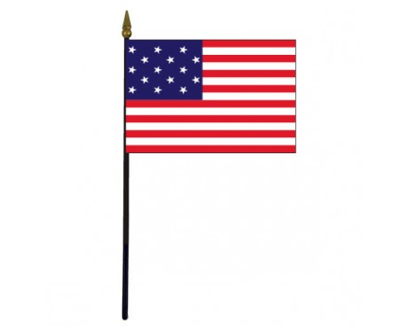 Star Spangled Banner Stick Flag - 4x6""