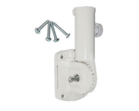 Flagpole Bracket 13 Position (White Nylon)