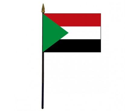 Sudan Stick Flag - 4x6""