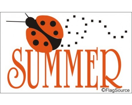 Summer Ladybug Flag - 3x5'