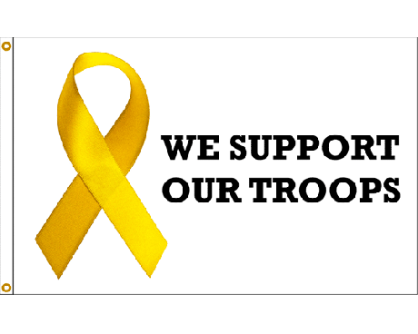 FREE SHIPPING Support Our Troops Yellow Ribbon Yard Sign Set 2 signs