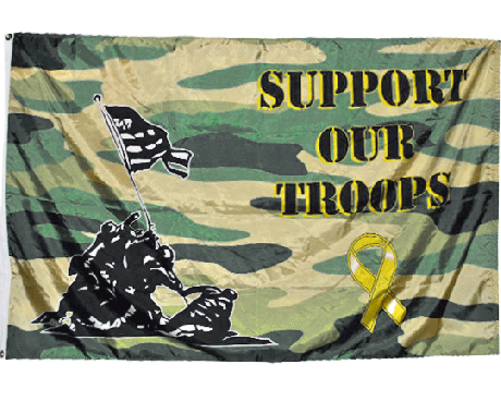 Support Our Troops Camouflage Flag - 3x5'
