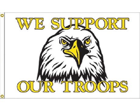 Support Our Troops Eagle Flag - 3x5'