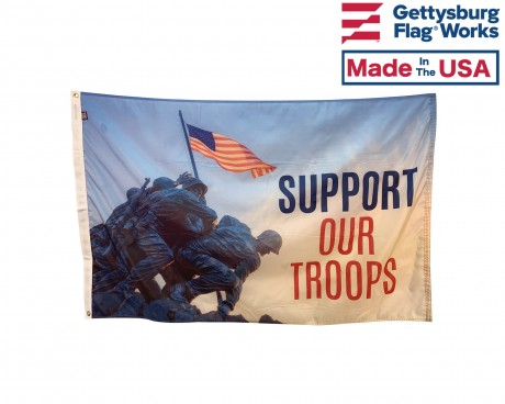 support our troops-raising flag
