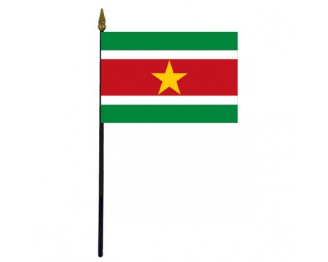 Suriname Stick Flag - 4x6""
