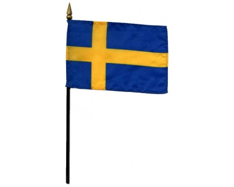 Sweden Stick Flag