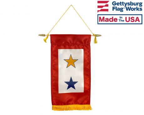 Service Star Banner (1 Gold Star 1 Blue Star) - 8x14""
