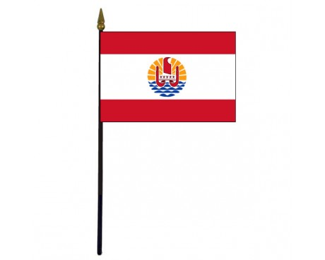 French Polynesia Stick Flag - 4x6""