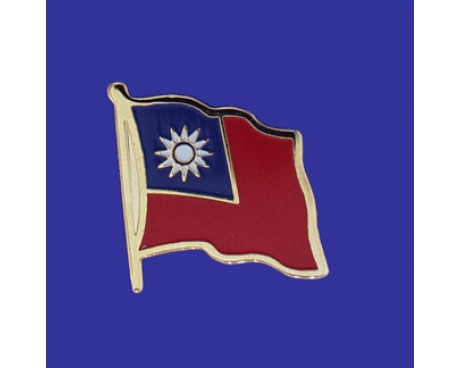 Taiwan Lapel Pin (Single Waving Flag)
