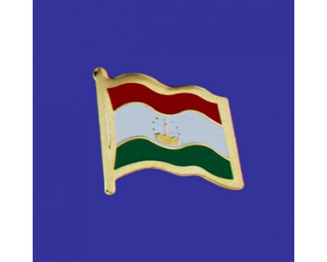 Tajikistan Lapel Pin (Single Waving Flag)