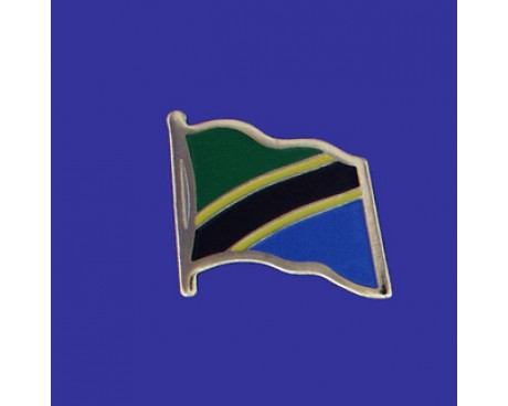 Tanzania Lapel Pin (Single Waving Flag)