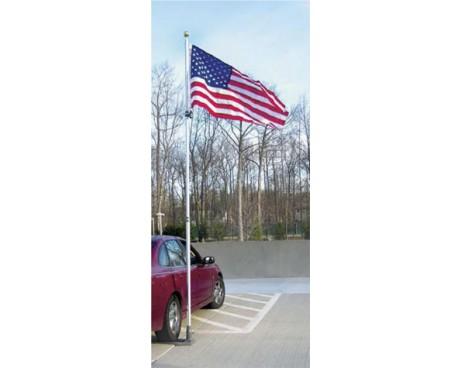 19' Silver Aluminum Flag Pole