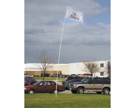 21' Telescoping Fiberglass Flag Pole