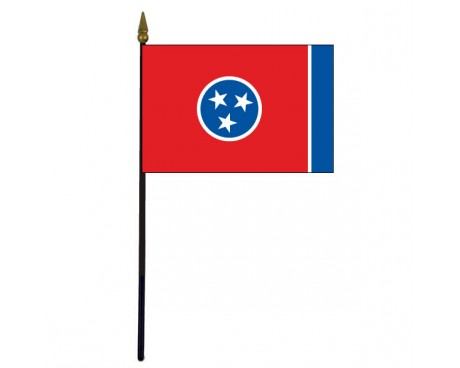 Tennessee State Stick Flag - 4x6""