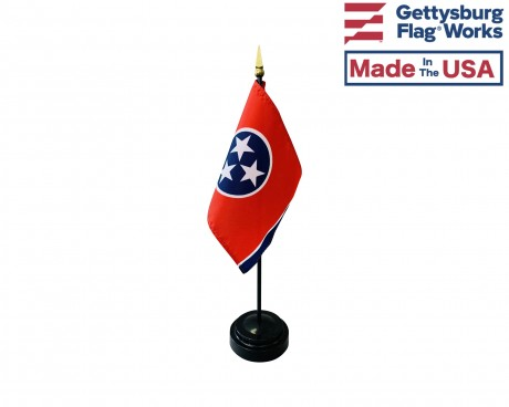 """Tennessee State Stick Flag - 4x6"""""""