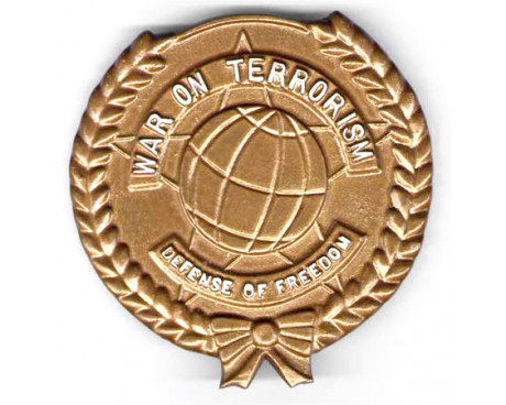 War On Terrorism (Lighter Design) Aluminum Grave Marker