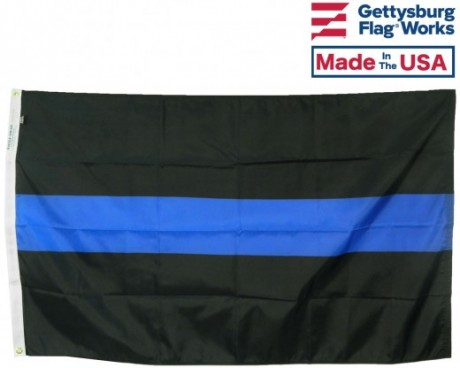 THIN BLUE LINE FLAG, TRADITIONAL 3 STRIPE