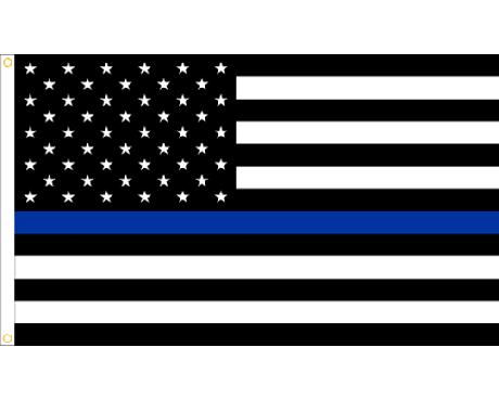 Thin Blue Line - USA Design Flag