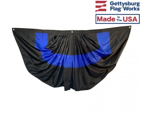 Thin blue line pleated fan