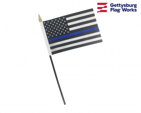 Thin Blue Line Stick Flags