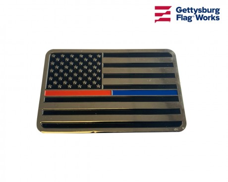 Thin Red/Blue Line Auto Emblem