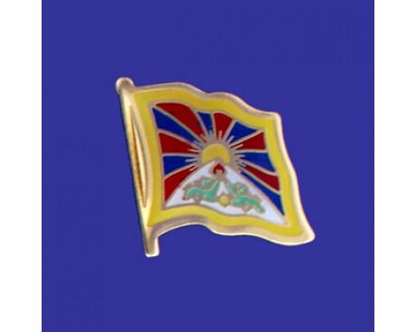 Tibet Lapel Pin (Single Waving Flag)