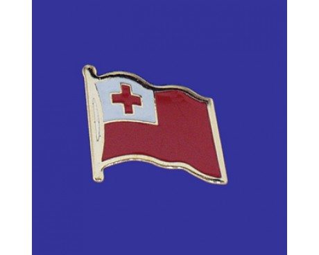 Tonga Lapel Pin (Single Waving Flag)