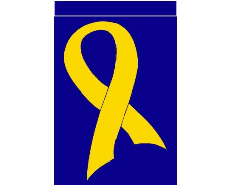 Support our Troops Ribbon Flag