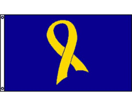 Support Our Troops Yellow Ribbon Flag