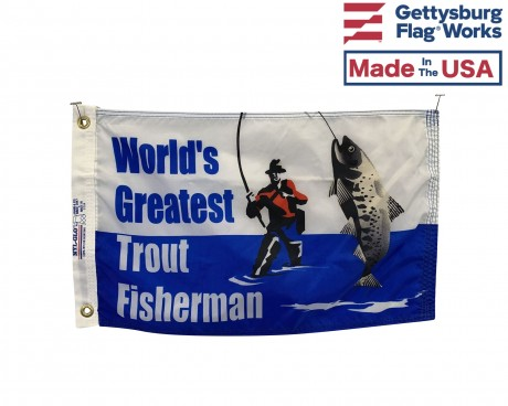Trout Fisherman Flag - 12x18""