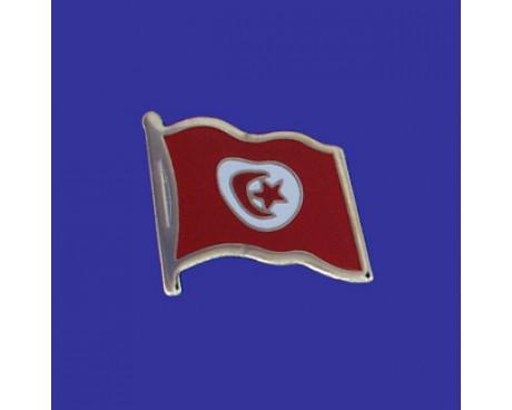Tunisia Lapel Pin (Single Waving Flag)