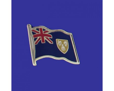 Turks & Caicos Lapel Pin (Single Waving Flag)