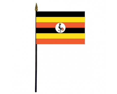 "Uganda Stick Flag - 4x6"""