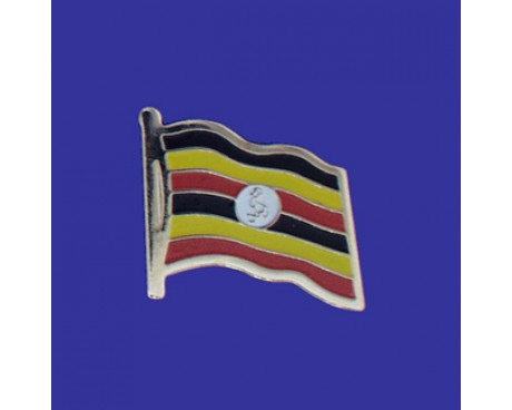 Uganda Lapel Pin (Single Waving Flag)