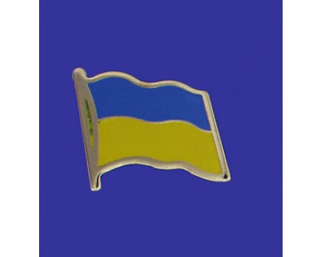 Ukraine Lapel Pin (Single Waving Flag)