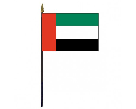 United Arab Emirates Stick Flag - 4x6""