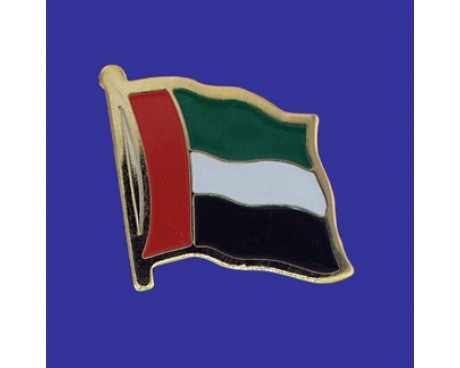 United Arab Emirates Lapel Pin (Single Waving Flag)