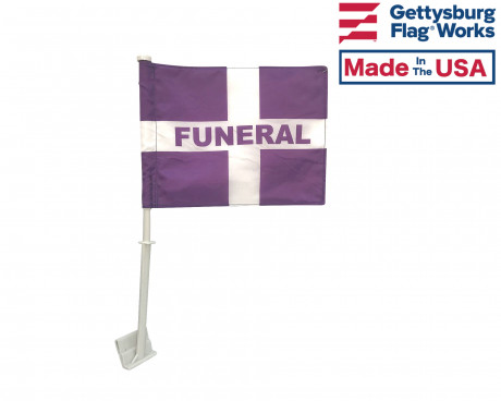 Funeral Car Window Flag