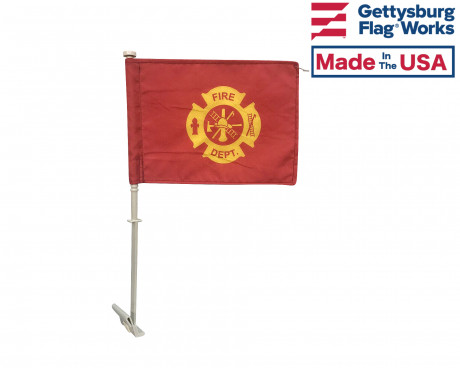 FIRE DEPT. CAR WINDOW FLAG