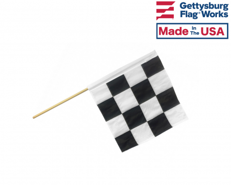 Motorcycle Racing End of Race Flag