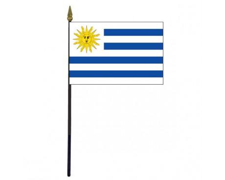 "Uruguay Stick Flag - 4x6"""