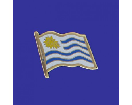Uruguay Lapel Pin (Single Waving Flag)